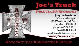 Joe's Trucking Business Card Design