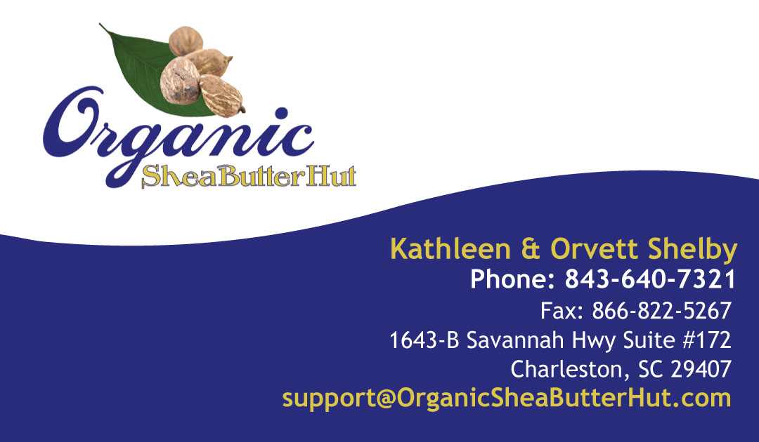Organic Shea Butter Hut Business Card Design