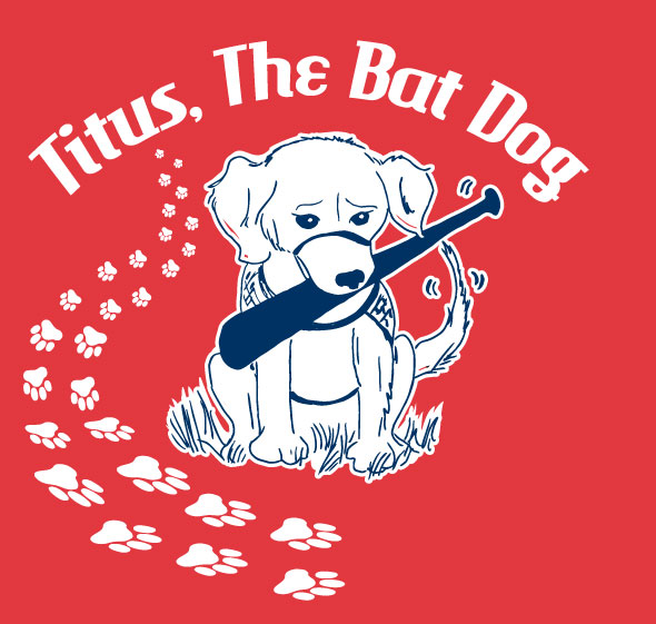 Titus, The Bat Dog T-Shirt Design