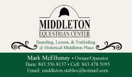 New Business Cards for Middleton Equestrian Center