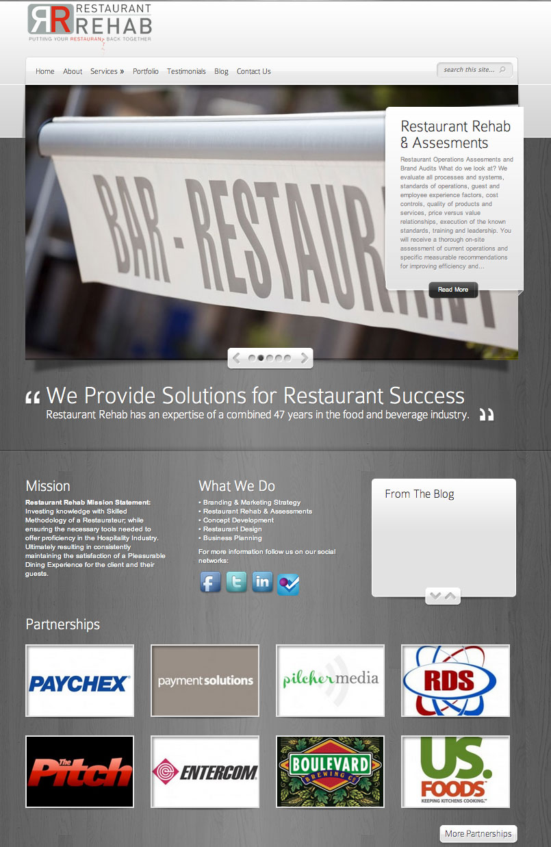 New Website for Restaurant Rehab