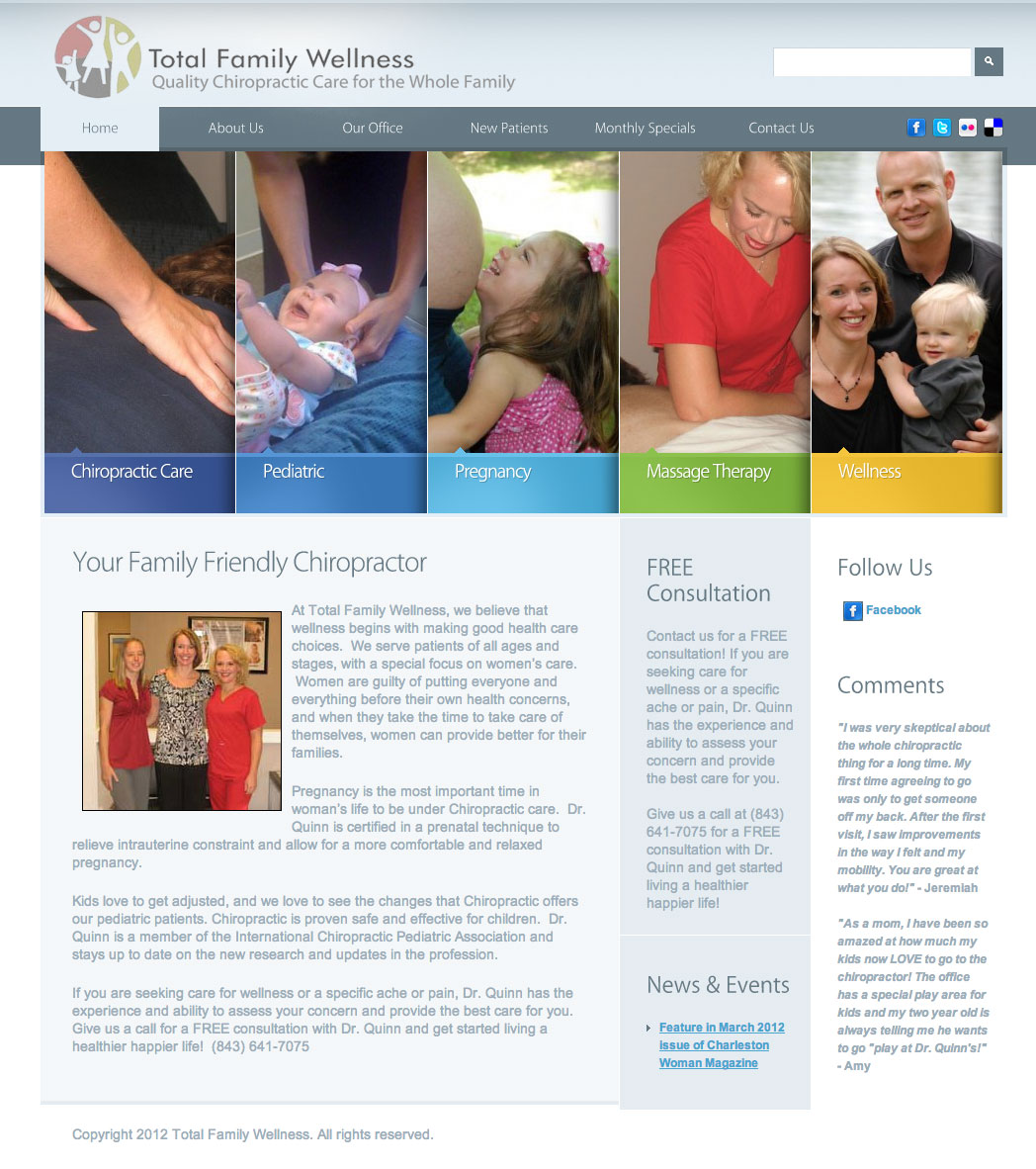 New WordPress Website for Total Family Wellness