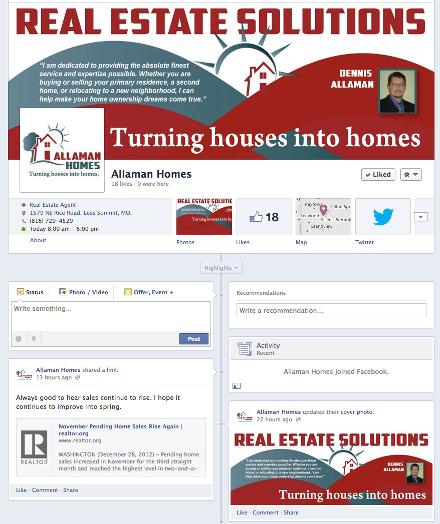 New Social Media for Allaman Homes