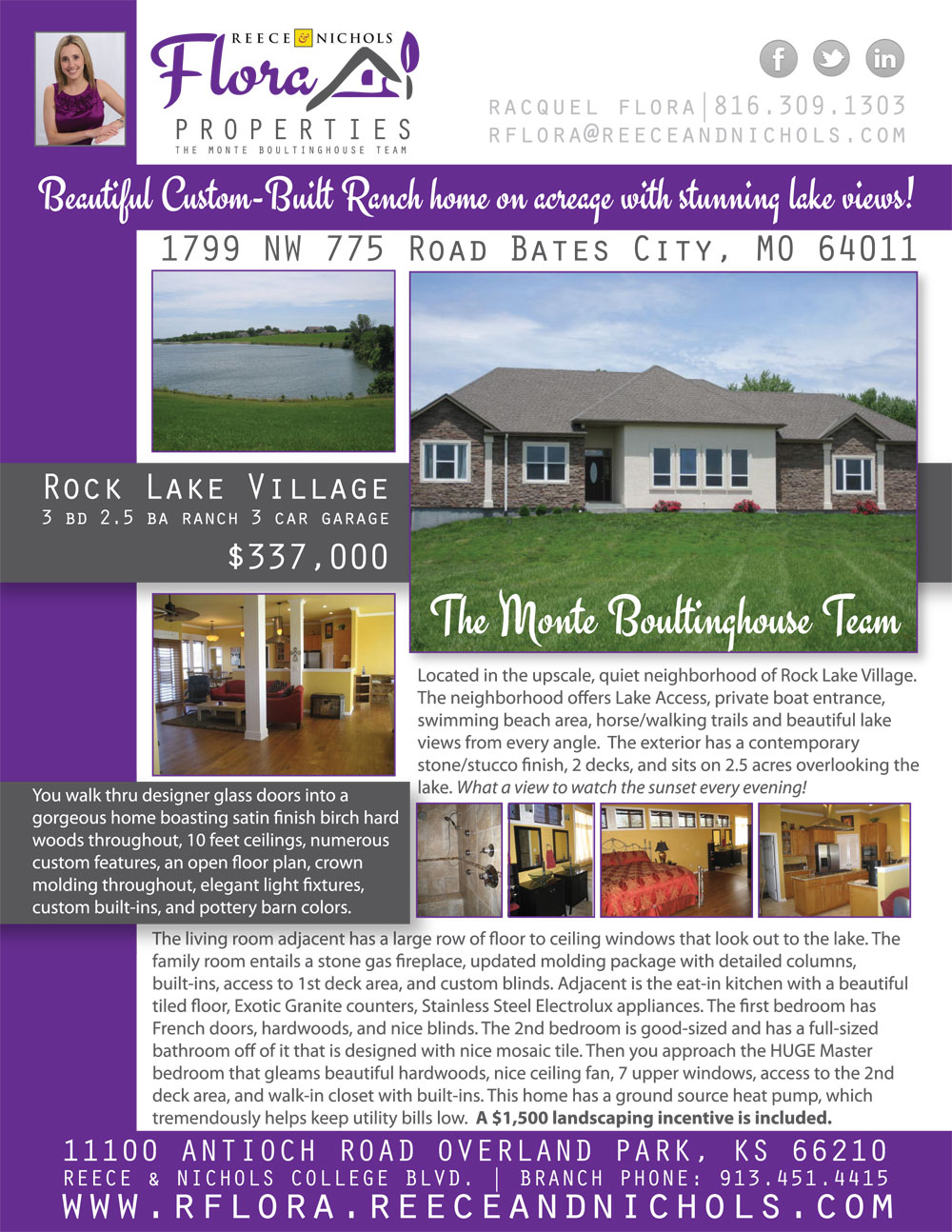 New Listing Flyer for Flora Properties!
