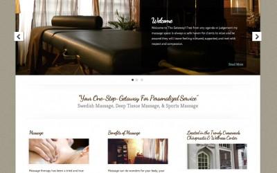 New Website Design for The Getaway Massage Therapist, Ryanne Newton