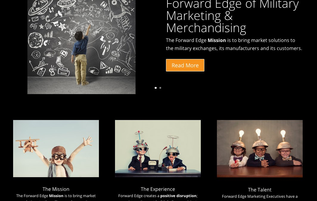 New Logo and Website for Forward Edge Marketing