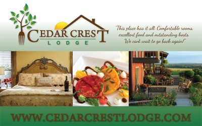 New Postcards for Cedar Crest Lodge in Pleasanton, KS
