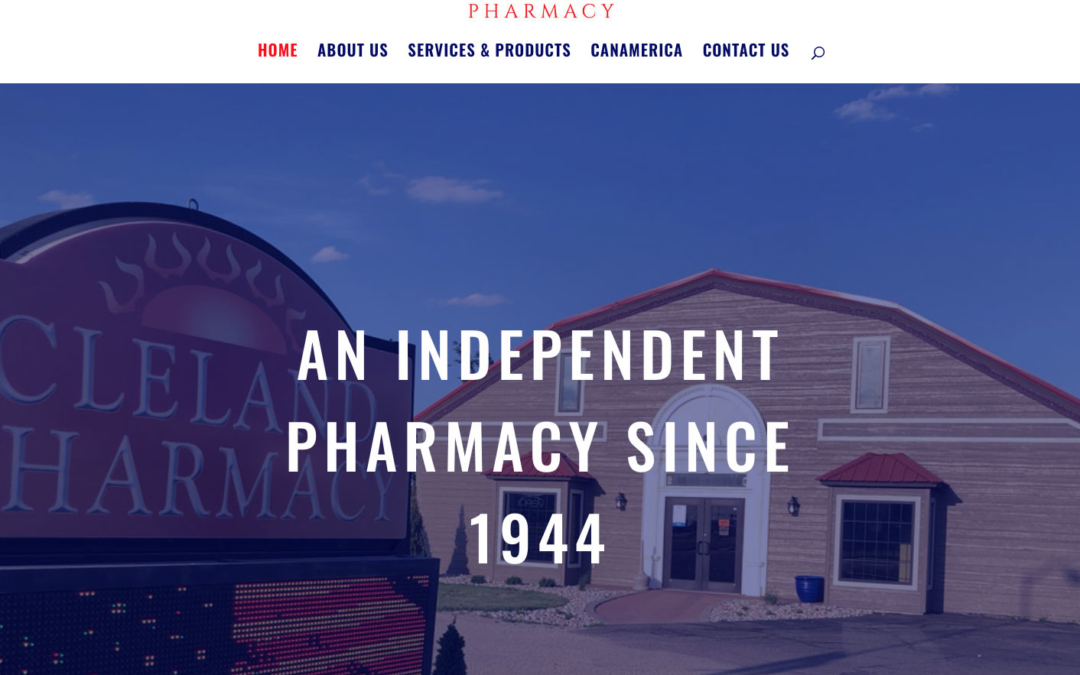 New Website for Cleland Pharmacy