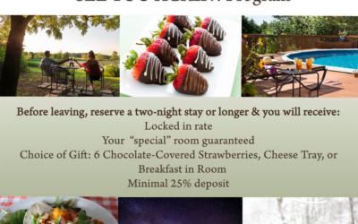 "New ""See You Again"" Rack Cards for Cedar Crest Lodge in Pleasanton, KS"